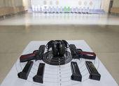 Guns shooting range — Stock Photo