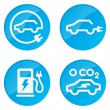 Electric Car vector icons - Stock Vector