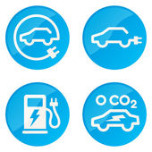 Electric Car vector icons — Vector de stock