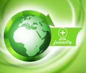 Biologic ecological green world, eco friendly — Stock Photo