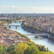 Landscape Verona city river Adige skyline architecture — Stock Photo