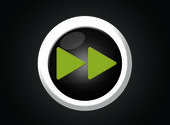 Play start fast forward button web green player white — Stock Photo