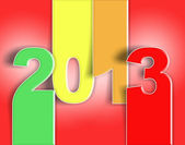 2012 2013 change happy new year auguri red — Stock Photo