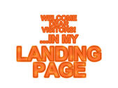 Landing page, otimização, chamada à ação, web marketing site — Fotografia Stock