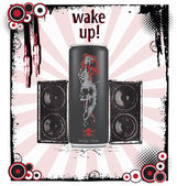 Wake-up art background vector — Stock Vector
