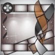 Camera film roll background vector - Stock Vector