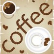Coffee time abstract vector - Stock Vector