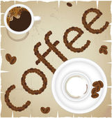 Coffee time abstract vector — Stock Vector