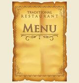 Menu para o restaurante e café — Vetor de Stock