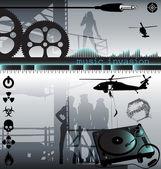 Music invasion vector — Stock Vector