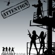 Attention-danger zone vector — Stockvectorbeeld