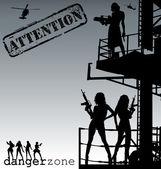 Attention-danger zone vector — Stock Vector