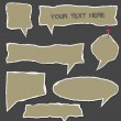 Royalty-Free Stock Vector Image: Torn paper speech bubbles vector