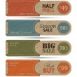 Sale Tags Design Vector — Stock Vector