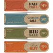 Sale Tags Design Vector — 图库矢量图片