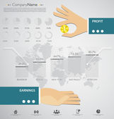 Infographic template vector — Stock vektor