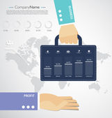 Infographic template vector — 图库矢量图片