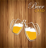 Beer card vector — Stock Vector