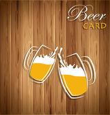 Beer card vector — Stock Vector