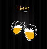 Beer list vector — Stock Vector