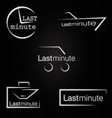 Last minute vector — Stock Vector