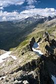 Chamonix peaks in sunny day — Stock Photo