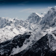 Stock Photo: Severe mountains covered with snow