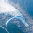 Paraglide over Alps ice-flow — Stock Photo #26811413