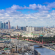 Aerial Moscow center heart panorama — Stock Photo #37987015