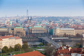 Prague center  aerial panorama, Prague, Czech Republic — Stock Photo