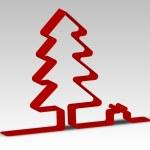 Christmas tree paper — Stock Photo