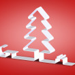 Christmas tree paper — Stock Photo