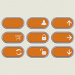 Web icons orange — Stock Photo