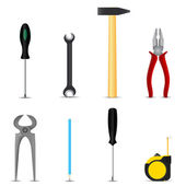 Set of hand tools hobby — Stock Vector