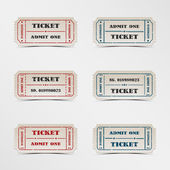 Collection vintage ticket — Stock Vector
