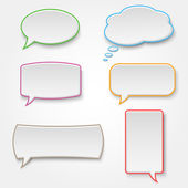Collection of colorful speech bubbles — Stock Vector
