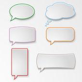 Colorful set speech bubbles — Stock Vector