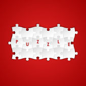 Abstract white group puzzle background — Stockvector