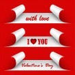 Valentines day red stickers — Stock Vector