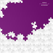 Abstract white group puzzle with violet background — Stock vektor