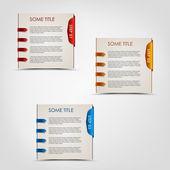 современные шаги цветные этикетки прогресс фон — Cтоковый вектор