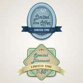 Discount vintage retro design style — Vetorial Stock