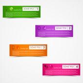 Info graphic rectangular design template — Stock Vector