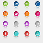 Colored set round web buttons template — Stock Vector