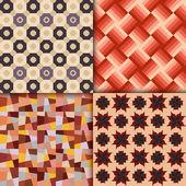 Fondo de patrones geométricos de estilo retro — Vector de stock