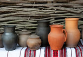 Ceramic jugs — Stock Photo