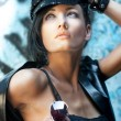 Woman in cap — Stock Photo #45113497