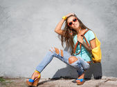 Stylish girl — Stock Photo