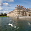 Medieval royal castle Fontainbleau and lake near Paris in France — Stock Photo #15340171