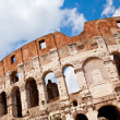 ������, ������: Arched facade of ancient landmark amphitheatre Colosseum in Rome